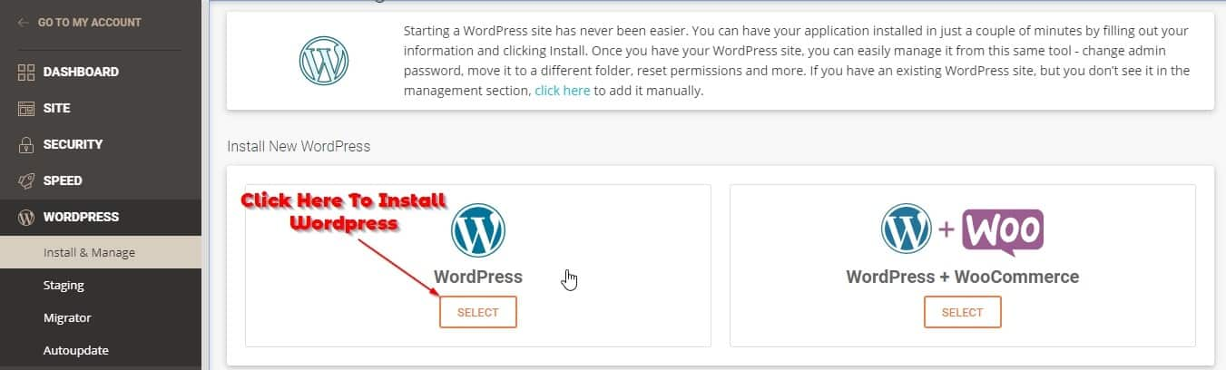 How To Install Wordpress In SiteGround