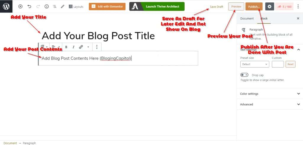 write article