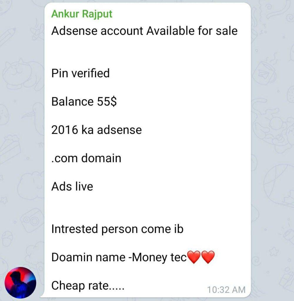 Adsense Selling Scam