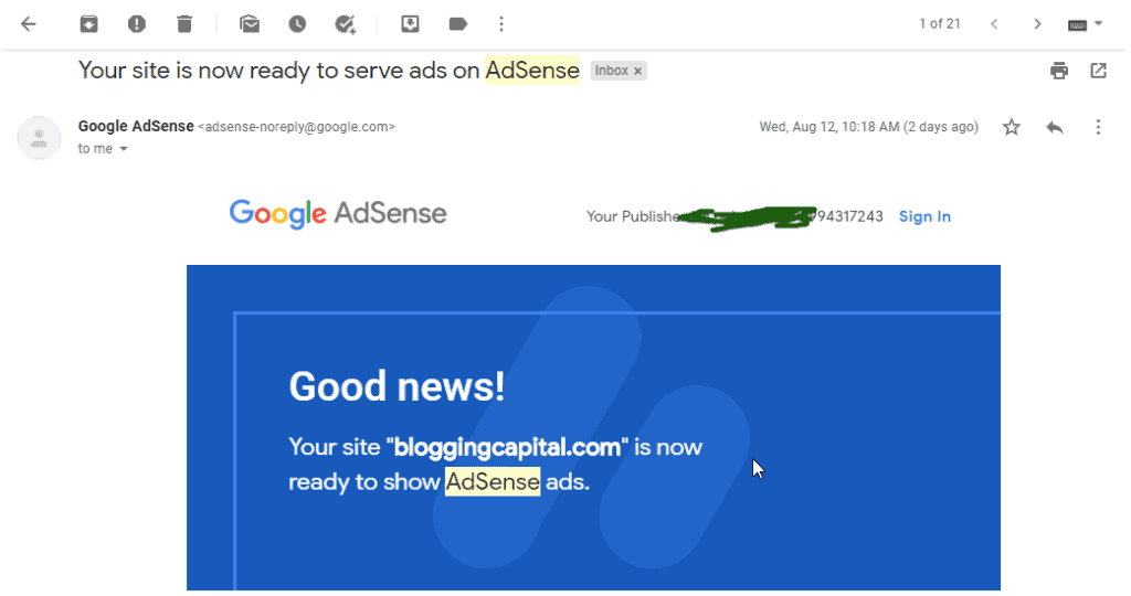 how adsense approval