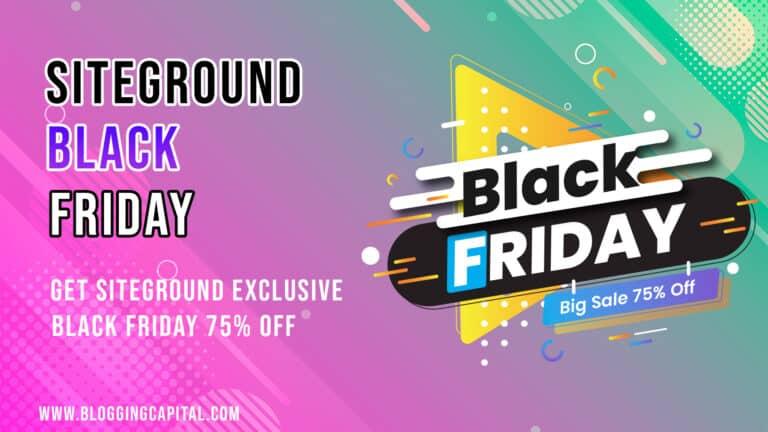 siteground black friday deal 2020