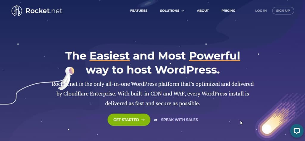 click on get started rocket net review