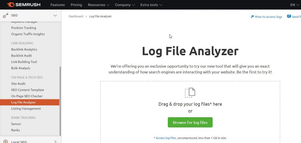 log file analyzer