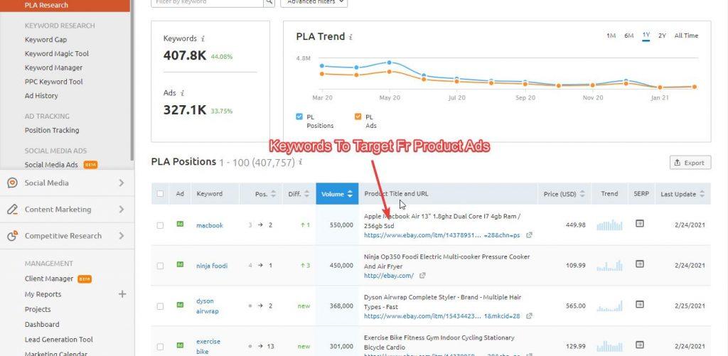 pla ads result