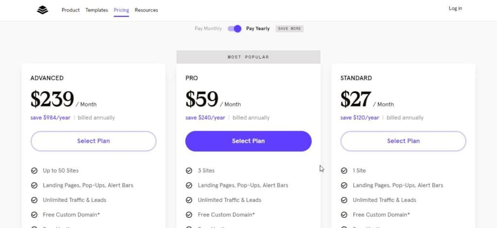select any plan leadpages black friday